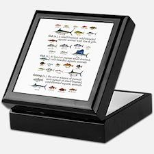 Fishin Definition Keepsake Box