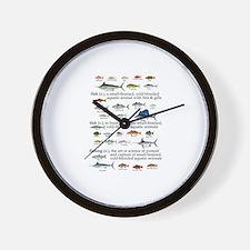 Fishin Definition Wall Clock