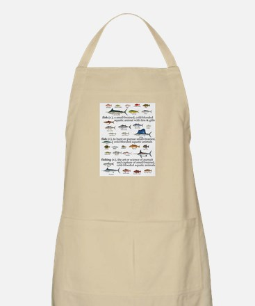 Fishin Definition BBQ Apron