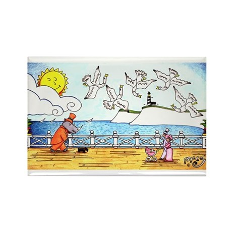 On the Boardwalk Rectangle Magnet (100 pack)
