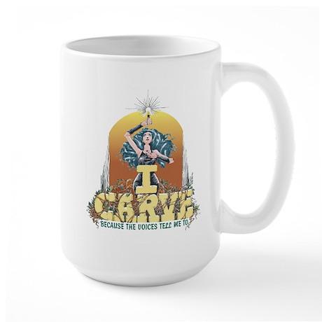 I Carve Large Mug