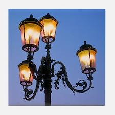 Italy Tile Coaster: <br> Italian street lamp