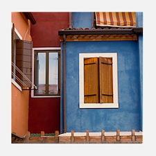 Italy Tile Coaster: <br> Burano windows
