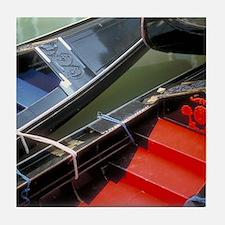 Italy Tile Coaster: <br> Venetian gondolas