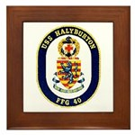 USS Halyburton FFG-40 Navy Ship Framed Tile