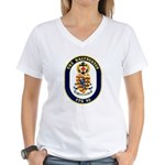 USS Halyburton FFG-40 Navy Ship Women's V-Neck T-S