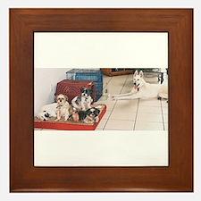 The Dog House Framed Tile