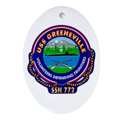 USS Greenville SSN 772 Navy Ship Oval Ornament