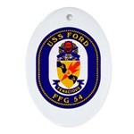 USS Ford FFG-54 Navy Ship Oval Ornament