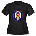 USS Ford FFG-54 Navy Ship Women's Plus Size V-Neck