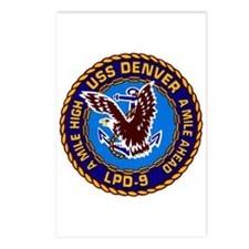 USS Denver LPD-9 Navy Ship Postcards (Package of 8