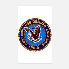 USS Denver LPD-9 Navy Ship Rectangle Decal