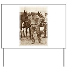 Cowboy 1 Yard Sign