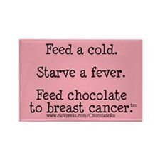 Feed Chocolate to Breast Cancer Rectangle Magnet