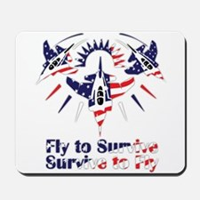 Fly to survive Mousepad