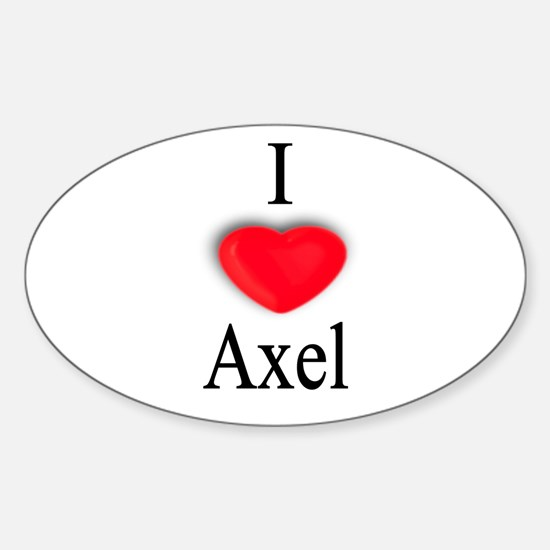 Axel Oval Decal