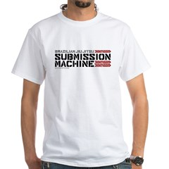 BJJ Submission Machine White T-Shirt