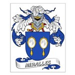 Miralles Coat of Arms Small Poster