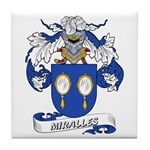 Miralles Coat of Arms Tile Coaster