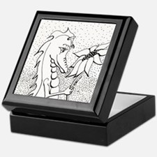 Dragon with Sunflower Keepsake Box