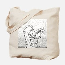 Dragon with Sunflower Tote Bag