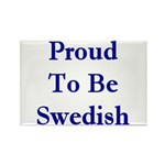Proud To Be Swedish Rectangle Magnet