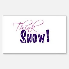 Think Snow! Rectangle Decal