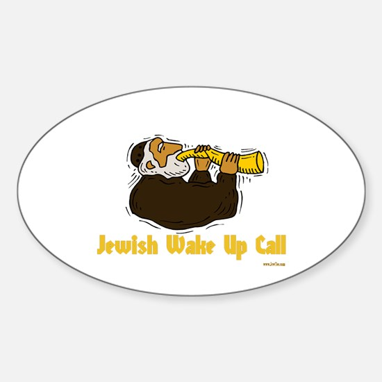 Wake Up Call Oval Decal