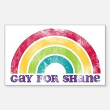 Gay For Shane Rectangle Decal