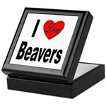 I Love Beavers Keepsake Box