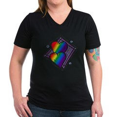 Two Rainbow Hearts Shirt