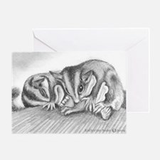 Friends long sugar gliders Greeting Cards