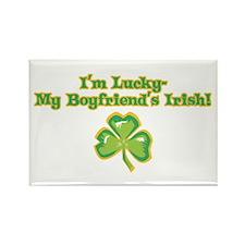 I'm Lucky My Boyfriend's Irish! Rectangle Magnet