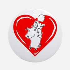 Love Dog Ornament (Round)