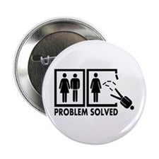 "Problem solved - Man 2.25"" Button"