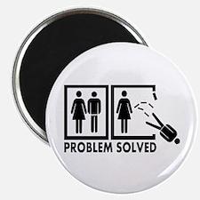 """Problem solved - Man 2.25"""" Magnet (10 pack)"""