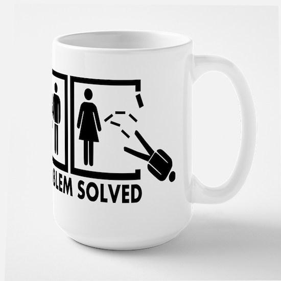 Problem solved - Man Large Mug