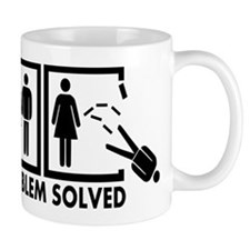 Problem solved - Man Small Mug