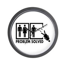 Problem solved - Woman Wall Clock