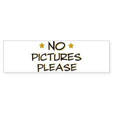 No pictures please - Photo Bumper Bumper Sticker