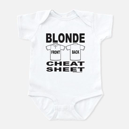 BLONDE CHEAT SHEET Infant Bodysuit