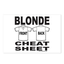 BLONDE CHEAT SHEET Postcards (Package of 8)