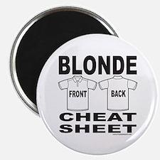BLONDE CHEAT SHEET Magnet