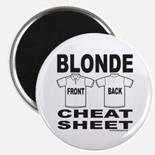 "BLONDE CHEAT SHEET 2.25"" Magnet (100 pack)"