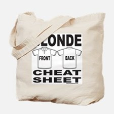 BLONDE CHEAT SHEET Tote Bag