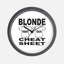 BLONDE CHEAT SHEET Wall Clock