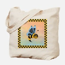 Butterbee With Blue Wings Tote Bag