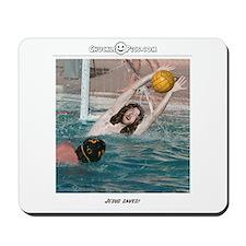 Jesus Saves-Water Polo Mousepad