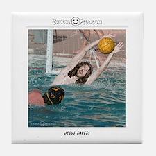 Jesus Saves-Water Polo Tile Coaster