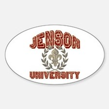 Jenson Last Name University Oval Decal